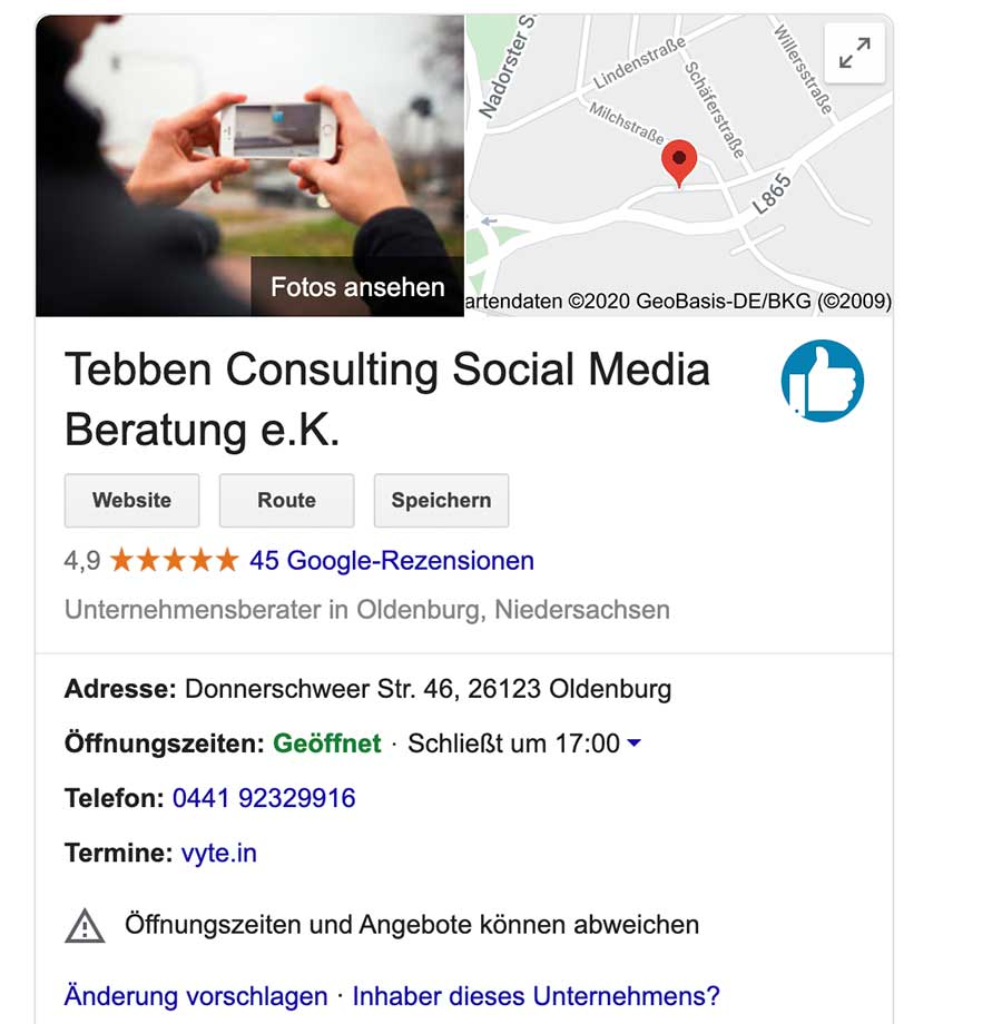 Local SEO My Business Eintrag